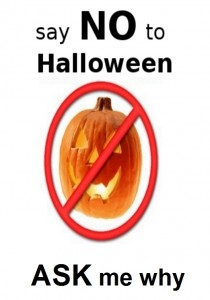 Say NO To Halloween T-Shirt Printing