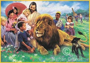 Biblical Heaven - The lion and the lamb living in peace